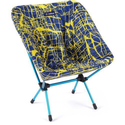 Helinox Seat Warmer for Chair One Black - Flow Line Blue Yellow